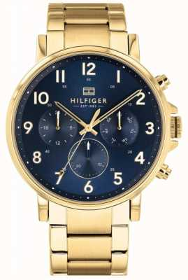 Tommy Hilfiger | Men's Gold And Navy Daniel Watch | 1710384