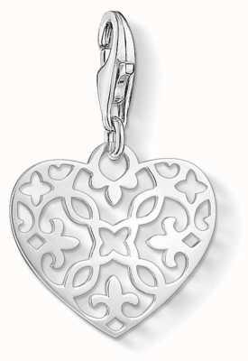 Thomas Sabo   Ornament Heart Charm   925 Sterling Silver   1497-001-12