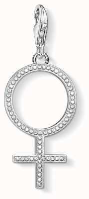 Thomas Sabo   Venus Symbol Charm   Sterling Silver   Zirconia   1751-051-14