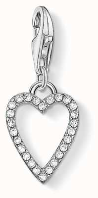 Thomas Sabo | Heart Charm | Sterling Silver | Zirconia, White | 1761-051-14
