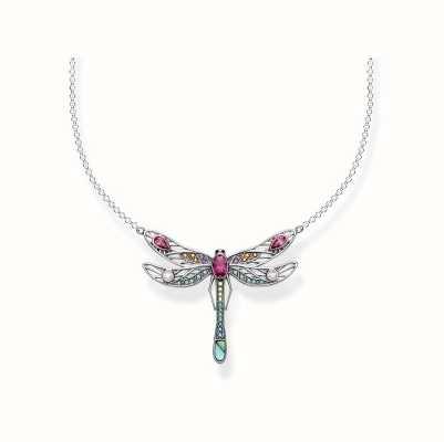Thomas Sabo | Sterling Silver Multi Stone Dragonfly Necklace | KE1838-998-7-L45V