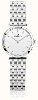 Michel Herbelin | Womens | Epsilon | Stainless Steel Bracelet | White Dial | 17116/B11