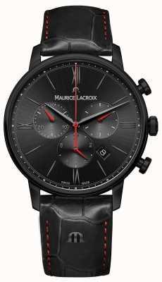 Maurice Lacroix Eliros Black PVD Plated Black Leather Strap EL1098-PVB01-310-1