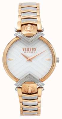 Versus Versace | Ladies Two Tone Bracelet | White dial | VSPLH0719
