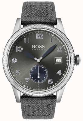 Boss | Mens Grey Canvas Strap | Legacy Watch | 1513683