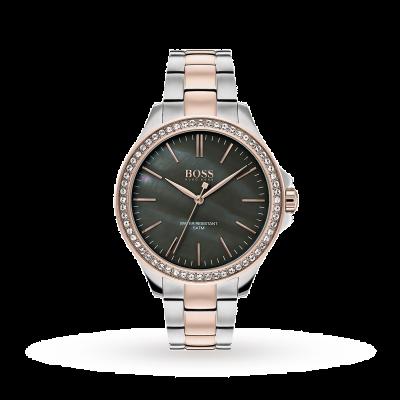 Boss   Womens Two Tone Stainless Steel Bracelet   1502452
