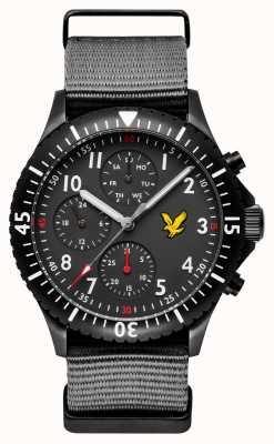 Lyle & Scott Men's Golden Eagle Grey Nato Strap Black Dial LS-6008-03