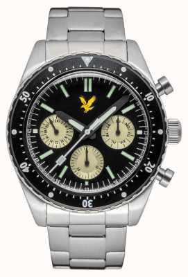 Lyle & Scott Mens Highland Stainless Steel Bracelet Black Dial LS-6011-11