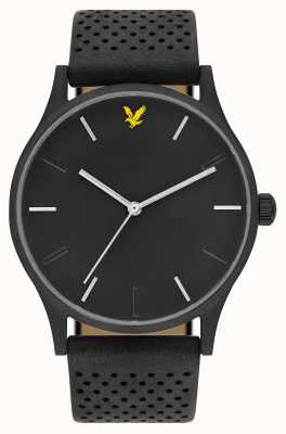 Lyle & Scott Mens Hope LE Black Leather Strap Black Dial LS-6014-02