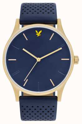 Lyle & Scott Mens Hope LE Blue Leather Strap Blue Dial LS-6014-04