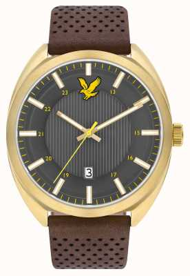 Lyle & Scott Mens Tevio Brown Leather Strap Grey Dial LS-6015-03