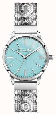 Thomas Sabo | Womens Stainless Steel| Turquoise Dial | Mesh Bracelet | WA0343-201-215-33