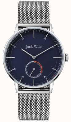 Jack Wills | Mens Batson II | Steel Mesh Bracelet | Blue Dial | JW002BLMH