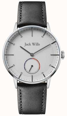 Jack Wills | Mens Batson II | Black Leather Strap | White Dial | JW002SLBK