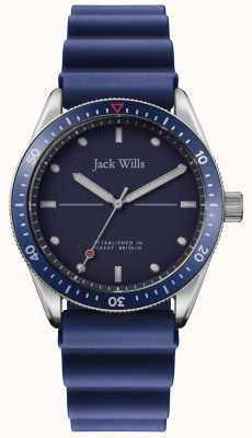 Jack Wills | Mens Mill Bay | Blue Rubber Strap | Blue Dial | JW015RBBL
