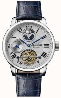 Ingersoll | Men's The Riff | Blue Leather Strap | White Dial | I07401