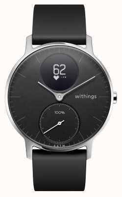 Withings Steel HR 36mm Black Silicone Strap HWA03B-36BLACK-ALL-INTER