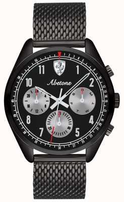 Scuderia Ferrari | Mens Abetone | Black Mesh Bracelet | Black Dial | 0830573