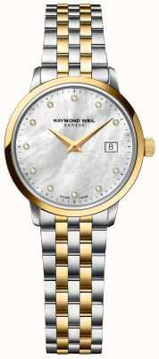 Raymond Weil | Women's Toccata Diamond | Two Tone Stainless Steel Bracelet 5985-STP-97081