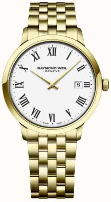 Raymond Weil | Mens Toccata | Gold Stainless Steel Bracelet | White Dial 5485-P-00300