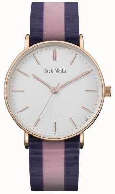 Jack Wills | Ladies Sandhill Twotone Silicon Strap | White Dial | JW018PKBL