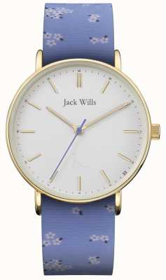 Jack Wills | Ladies Sandhill Blue Silicon Strap | White Dial | JW018FLBL