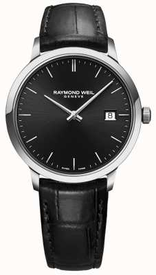 Raymond Weil | Men's Toccata Black Leather | Black Dial | 5485-STC-20001