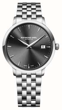 Raymond Weil   Gents Toccata Stainless Steel Bracelet   Black Dial   5485-ST-20001
