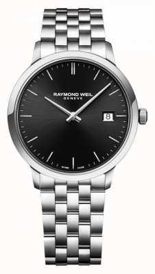 Raymond Weil | Men's Toccata Stainless Steel Bracelet | Black Dial | 5485-ST-20001