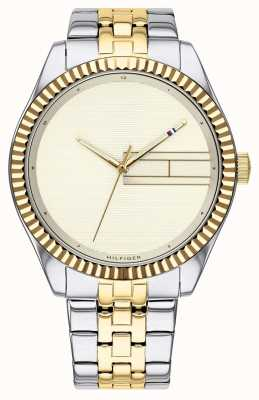 Tommy Hilfiger | Women's Two Tone Stainless Steel Bracelet | Champagne Dial 1782083
