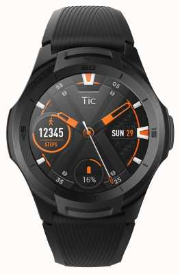 TicWatch | S2 | Midnight Smartwatch | Black Silicone Strap 131585-WG12016-BLK