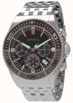 Breil | Mens Manta 1970 Solar | Black Dial | Grey/Black Bezel | TW1821
