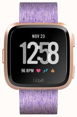 Fitbit Versa NFC Rose Gold Lavender Charcoal Woven (online only) FB505RGLV-EU