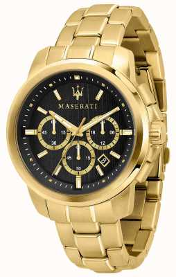 Maserati Successo Mens Gold Plated Watch R8873621013