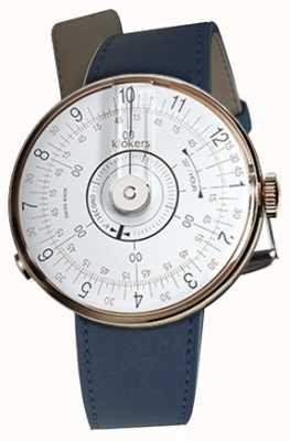 Klokers KLOK 08 White Watch Head Indigo Blue Single Strap KLOK-08-D1+KLINK-01-MC3