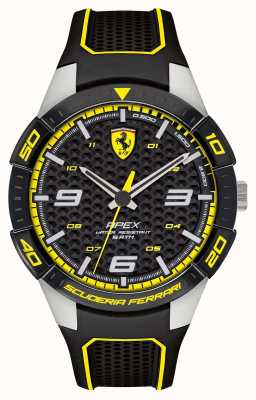 Scuderia Ferrari | Men's Apex | Black Rubber Strap | Black/Yellow Dial | 0830631