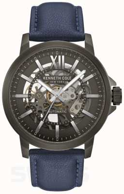 Kenneth Cole   Mens Automatic   Blue Leather   Gun Metal Dial   KC50779002