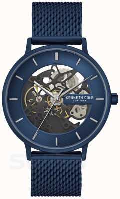 Kenneth Cole   Mens Automatic   Blue Mesh Strap   Blue Dial   KC50780003