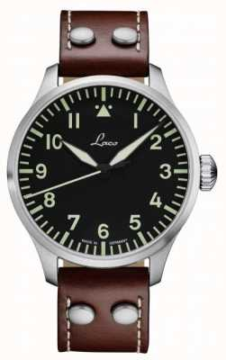 Laco | Augsburg 42 | Automatic Pilot | Brown Leather | Black Dial 861688.2