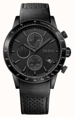 Hugo Boss | Mens Rafale Chronograph |Black Dial | Black Leather Strap 1513456
