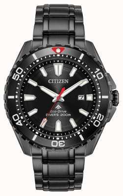 Citizen Men's Promaster Diver Eco-Drive Black PVD Plated BN0195-54E