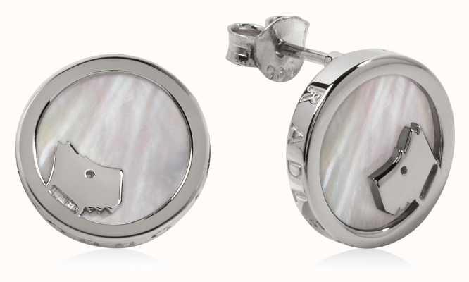 Radley Jewellery Silver Mother Of Pearl Circle Earrings RYJ1069