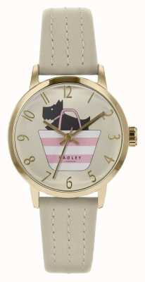 Radley | Womens Grey Leather Strap | Printed Dog In Bag Dial | RY2790