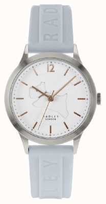 Radley | Womens Powder Blue Silicone Strap | White Dial | RY2819