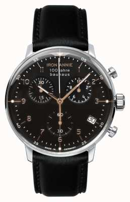 Junkers Iron Annie | Bauhaus | Chrono | Black Dial | Black Leather 5096-2