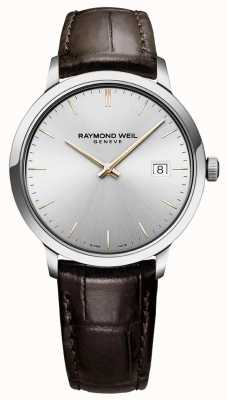 Raymond Weil | Men's Toccata | Brown Leather Strap | Silver Dial | 5485-SL5-65001