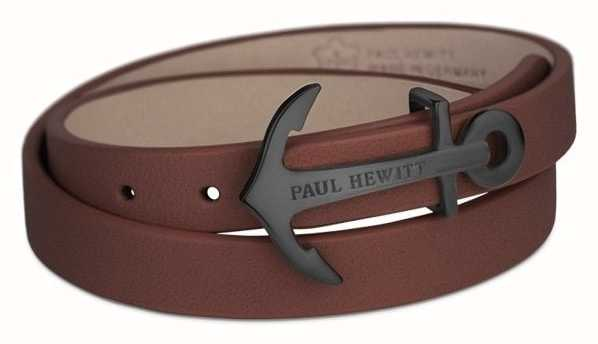 Paul Hewitt Black Anchor Brown Leather PH-WB-B-1M