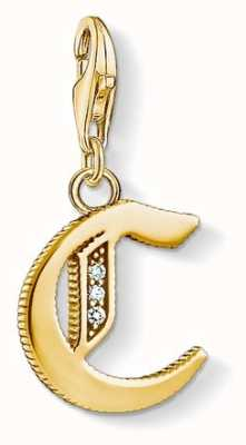 Thomas Sabo Pendant 'Letter C' 18k YellowGold Plated 925 Sterling Silver 1609-414-39