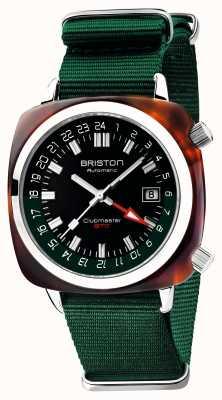 Briston Clubmaster GMT Limited Edition | Auto | Green Nato Strap 19842.SA.T.10.NBG