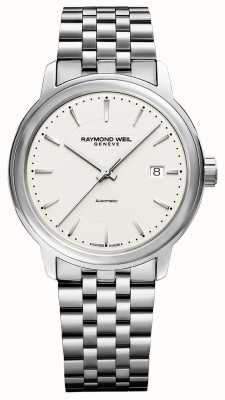 Raymond Weil Mens | Maestro | Automatic | Beige Dial | Stainless Steel 2237-ST-65011